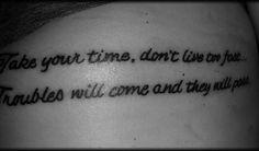 Cool tattoo - Simple Man lyric tattoo | Tattoos :) Express yourself ...