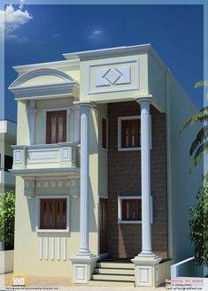 Astounding House Portico Designs Photos In Tamilnadu 2 October 2013