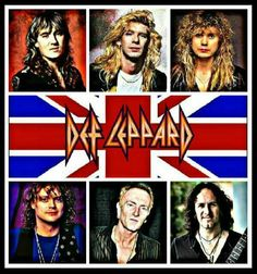 Def Leppard Great Bands, Cool Bands, Hard Rock, Music Maniac, Rock And Roll Fantasy, Vivian Campbell, Phil Collen, 80s Hair Bands, Joe Elliott