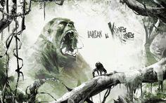 Digital Art Inspiration and Tutorials – The Round Tablet » KingKong vs Tarzan by Xavier Etchepare