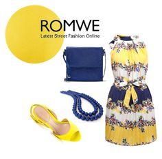 """romwe fashion"" by salome-chekurishvili ❤ liked on Polyvore"