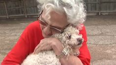 What could be a happier photo than a grandmother and her precious poodle reunited after a Houston flashflood?