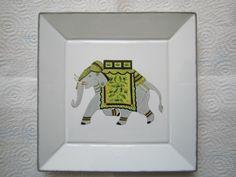 elephants service peinture sur porcelaine