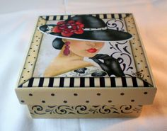 Pionik is a visual bookmarking tool that you can use to find ideas in home decor, design, shoping, cooking and much more for all your projects and interests. Decoupage Vintage, Decoupage Paper, Tole Painting, Painting On Wood, Painted Boxes, Hand Painted, Altered Cigar Boxes, Tea Box, Pretty Box
