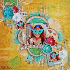 Scrapbooking Mix Media Layout. Published on Feb 7, 2015   A step by step Scrapbooking Mix Media Layout using My Creative Scrapbook LE kit by Marilyn Rivera. My Creative Scrapbook kits...http://www.mycreativescrapbook.com/ki... My blog...http://marilynrivera.blogspot.com/