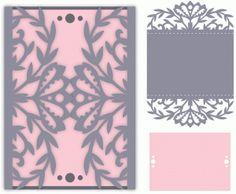 Силуэт Дизайн магазина - Просмотр Дизайн # 78332: богато цветочный конверте формата карты