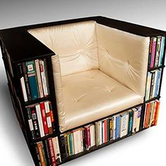 Library Bookcase Chair #giftsshop for_the home #giftsshop for_the man cave