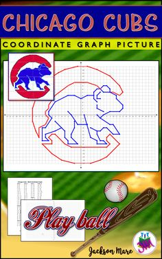 PLAY BALL! The 108 year wait is over - Chicago Cubs 2016 World Series Champions! No striking out with your math students when you give them this assignment! They'll hit a home run as they review their x & y axis coordinate skills by plotting & drawing out this Chicago Cubs themed picture. Students will RBI - Review, Build, & Integrate - when you use this fun printable baseball activity in your lesson or as a filler after a test. Sold by TeachersPayTeachers at the Jackson Mare store.