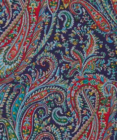Liberty Art Fabrics Felix and Isabelle J Tana Lawn Cotton.  Felix and Isabelle Liberty fabric was derived from a dress fabric design which was originally based on an archival paisley shawl drawing. The print joined the Tana collection in 2013, it reappears this seasons in four fabulous new colourways.