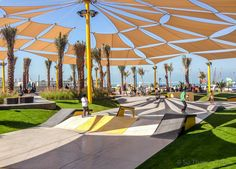 Skate park at Kite beach, Dubai.