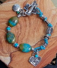 Peruvian Blue Opal Handcrafted Artisan Sterling Silver by ljmoreau, $185.00