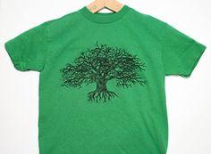 Kids XS Tree T Shirt Forgiving Tree Green by theforgivingtree, $16.00
