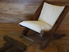 Silla de madera salón granero por TicinoDesign en Etsy
