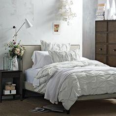 GG's room...Nailhead Upholstered Headboard | west elm
