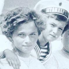 Grand duchess Olga and tsarevic Alexei Romanov #grandduchess #olganikolaevna…