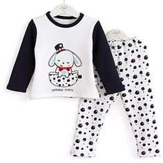 children's pattern of dogs cashmere thick thermal Clothing Sets Boy Outfits, Winter Outfits, Newborn Fashion, Baby Suit, Girls Pajamas, Kids Prints, Pj Sets, Kind Mode, Pyjamas