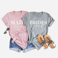Custom Bridal Party Tees. Foxblossom Co. custom bridesmaid tank tops 1195a4b7f984