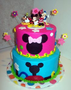 Pretty Image of Mickey Mouse Clubhouse Birthday Cake . Mickey Mouse Clubhouse Birthday Cake Image Detail For Mickey Mouse Clubhouse For A Girl Mommy File Bolo Do Mickey Mouse, Mickey And Minnie Cake, Mickey Mouse Images, Bolo Minnie, Mickey Mouse Cupcakes, Mickey Mouse Clubhouse Birthday Party, Mickey Mouse Birthday Cake, 4th Birthday Cakes, 2nd Birthday