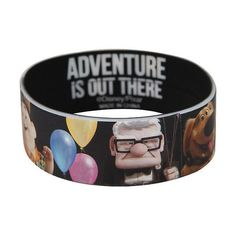 Best Bracelet 2017/ 2018 : Disney Up Adventure Is Out There Rubber Bracelet Hot Topic ($5.25)  liked on