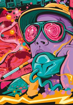 Tribute Poster Artwork for Fear and Loathing in Las Vegas