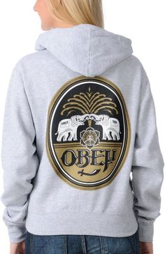 Size large or medium http://www.zumiez.com/brands/obey/obey-girls-ipa-grey-pullover-hoodie.html