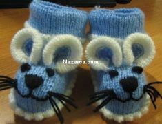 Der Neu :Mouse-shaped Baby Booties Knitting Pattern from Cute Booties for Babies from . Baby Booties Knitting Pattern, Knit Baby Dress, Crochet Baby Shoes, Baby Boots, Crochet Baby Booties, Crochet Slippers, Baby Knitting Patterns, Knitting Socks, Baby Patterns