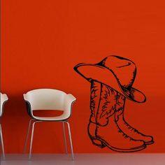 Wall Decal Decor Decals Art Boots Hat Cowboy Texas Stetson Ranch Mexico Canada Western (M682) DecorWallDecals http://www.amazon.com/dp/B00GR2D2L4/ref=cm_sw_r_pi_dp_C1j2ub1QHHRFC