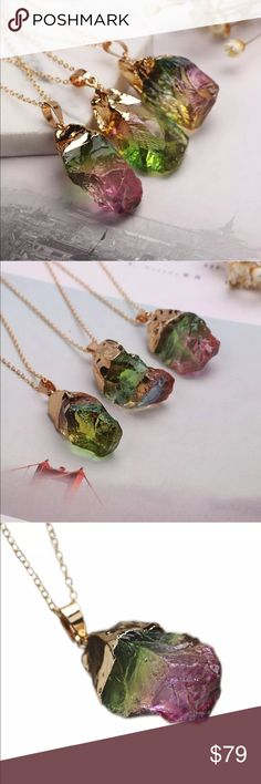 Natural Quartz Necklace Brand New Boutique Quality Absolutely Stunning Additional information provided above If you have any questions please don't hesitate to ask Jewelry Necklaces