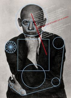 OSKAR SCHLEMMER by los favoritos, via Flickr photography + illustration mix