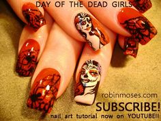 Day of dead nails