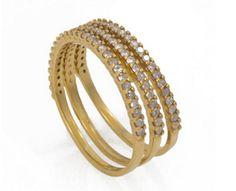 Kelly Wearstler rarity rings with three encrusted raw diamonds, $495 at Kelly Wearstler.