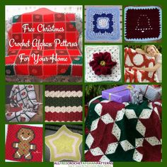 Ready to start crocheting for Christmas? These festive crochet afghan patterns will put you in the spirit!