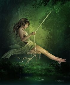 Green Fairy on Swing