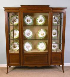 Antique China Cabinets | Antique Antique Mahogany China Display Cabinet