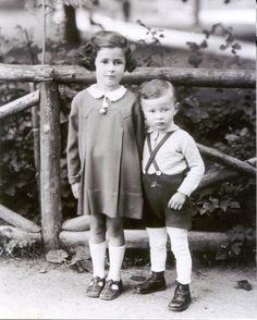 Six-year old Anna and three-year Jon Klein, the children of Aladar Klein. Both perished in Auschwitz.