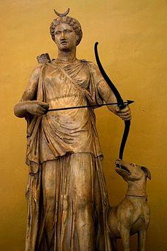 Artemis and her hound (Diana), Vatican Museum