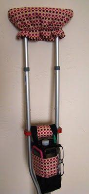 crutch caddy...crutch cover