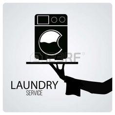 laundry symbol: laundry service over degrade color background Laundry Logo, Laundry Icons, Laundry Symbols, Laundry Room Design, Dry Cleaning Business, Laundry Business, Laundry Company, Laundry Shop, Self Service Laundry