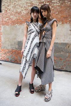 Proenza Schouler at New York Fashion Week Spring 2017 - Backstage Runway Photos