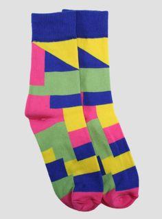 Paisley Quadrahedron Pink - Unisex   The Sock Hop  #thesockhop #sockhopny #socks