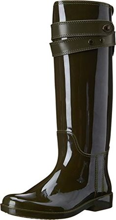 Coach Talia Womens Waterproof Rubber Rainboots Boots Green Size 5 ** This is an Amazon Affiliate link. Continue to the product at the image link.