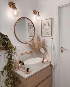 Tiny Bathrooms, Beautiful Bathrooms, Modern Bathrooms, Bathroom Inspiration, Home Decor Inspiration, Bathroom Ideas, Simple Bathroom, Modern Boho Bathroom, Decor Ideas