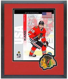 "Patrick Kane Blackhawks - 2014 USA Olympic Team-11""x14"" Matted and Framed Photo"