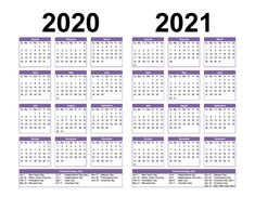 Free Printable 2020 and 2021 Calendar with Holidays PDF, Word – Free Printable 2020 Monthly Calendar with Holidays