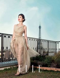 Cherie Chung for ELLE HK December 2014 - Valentino Fall 2014 Couture #鍾楚紅