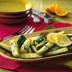 Zucchini With Citrus-Herb Dressing Recipe - 28 Fresh Zucchini Recipes - Southern Living