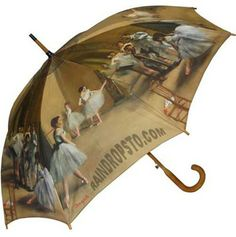 Full Size Degas Ballet Lesson Umbrella