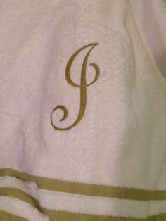 Monogram on bath towels