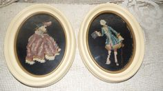Vintage victorian needlepoint embroidery lady by FabulousFinds1, $19.99