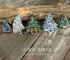 "44 Likes, 6 Comments - Lubov Babak (@babaklyubov) on Instagram: ""Hello! I'm glad to show you my small collection of Christmas trees brooches. Each of them is…"""